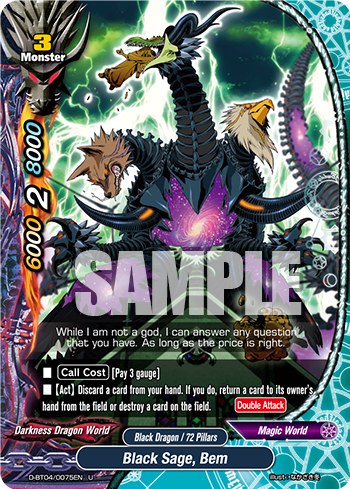 Future Card Buddyfight Card Black Sage, Bem
