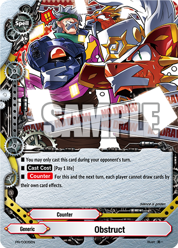 Future Card Buddyfight PR Card Obstruct
