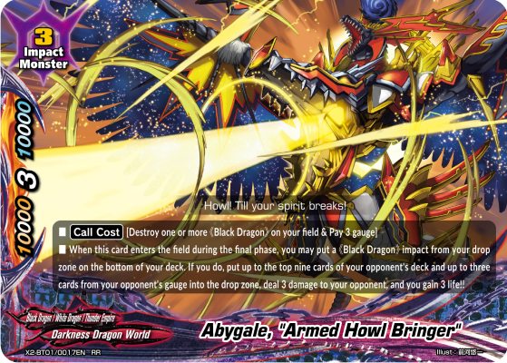 Future Card Buddyfight Abygale, Armed Howl Bringer