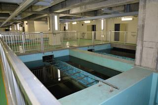 環境工学実習で創成川水再生プラザを見学しました