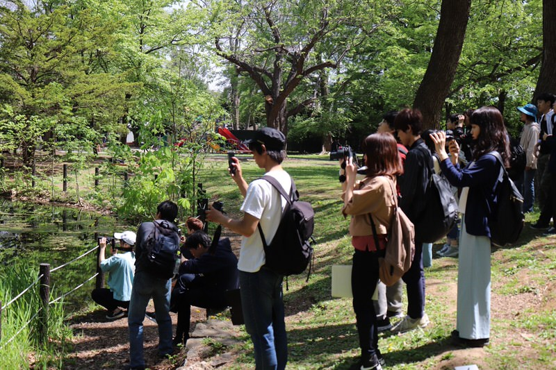 『生物学実験』の野外研修が札幌市内の円山公園と円山動物園で行われました