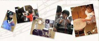 いろんな楽器体験、練習します(^^)
