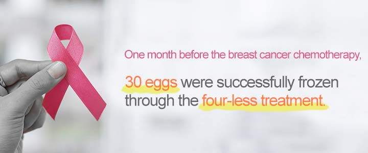 1 Month Before the Breast Cancer Chemotherapy, 30 Eggs Were Successfully Frozen