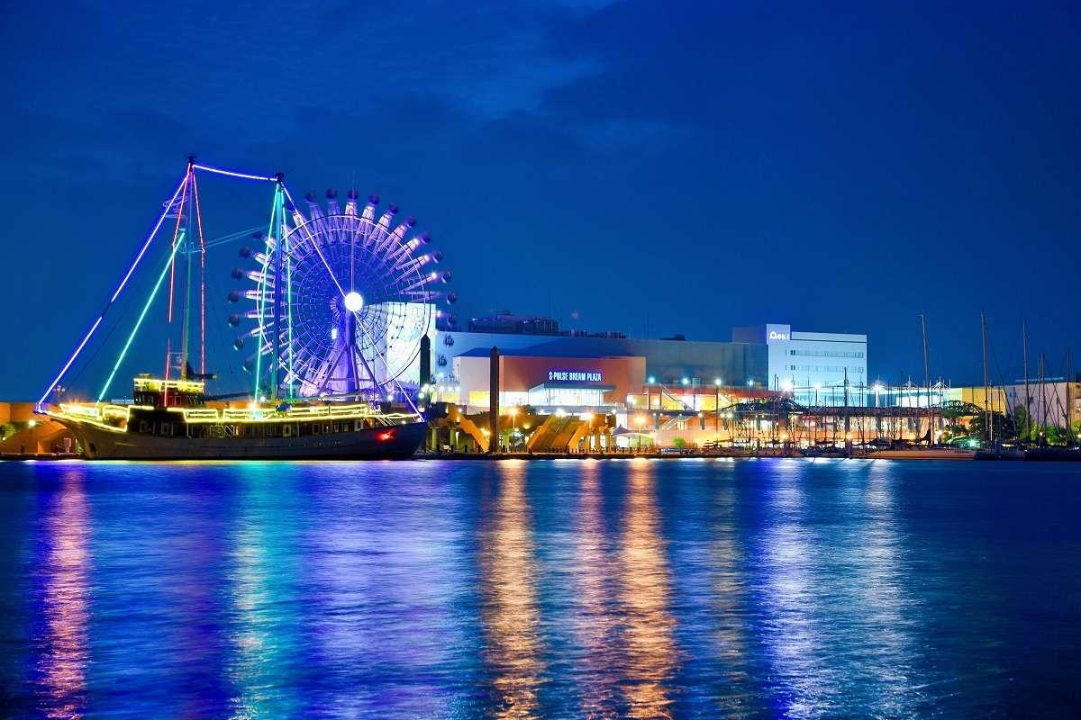 清水港ナイトクルーズ、夜景