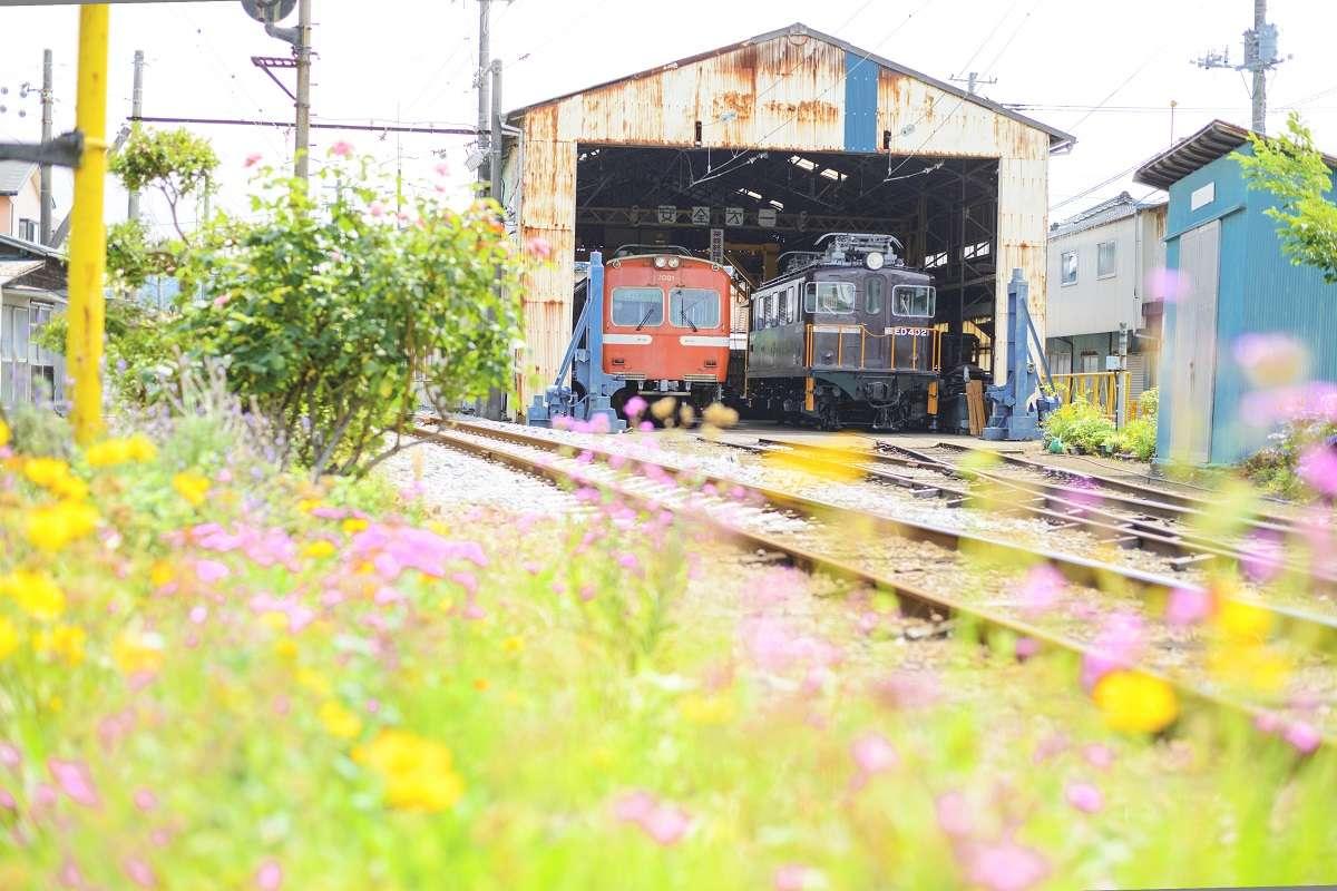 岳南電車、富士市、車庫