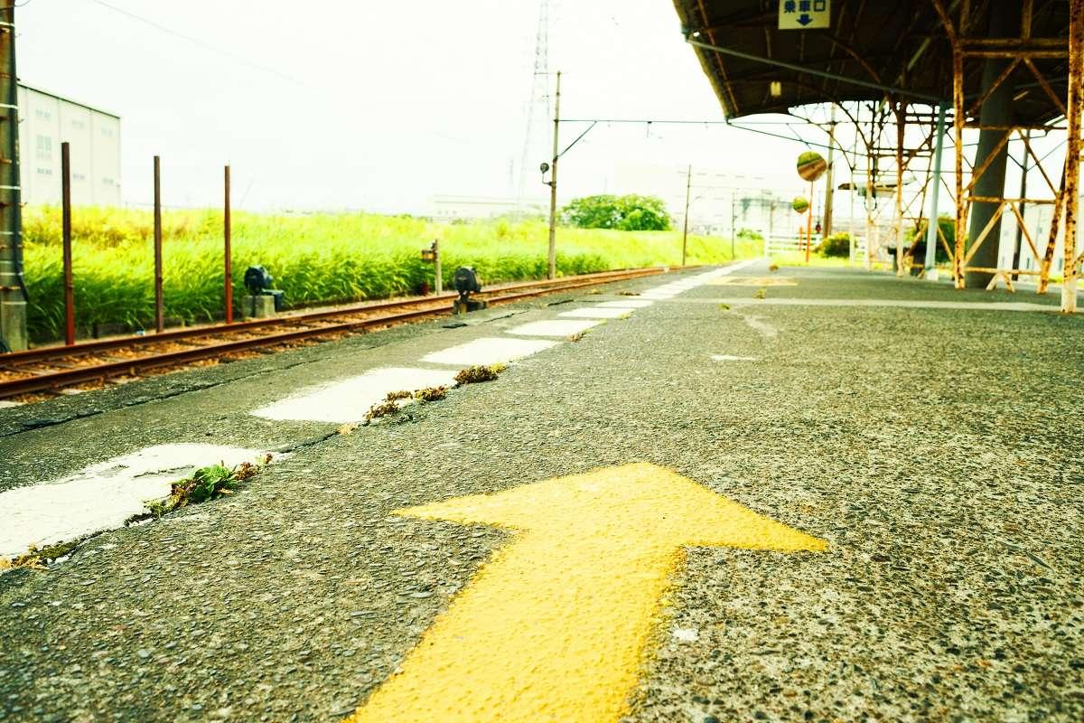 岳南電車、富士市、ホーム