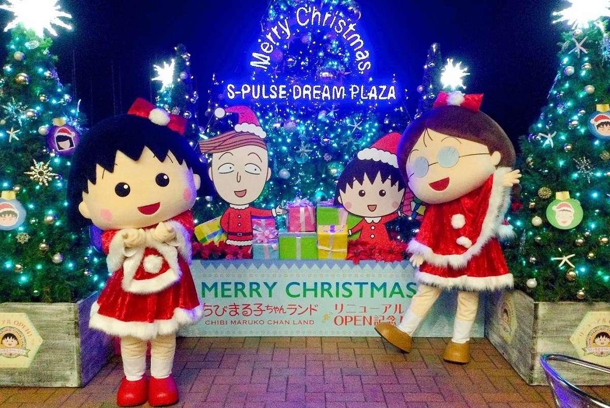 イルミネーション、静岡市、エスパルスドリームプラザ、ちびまる子ちゃん
