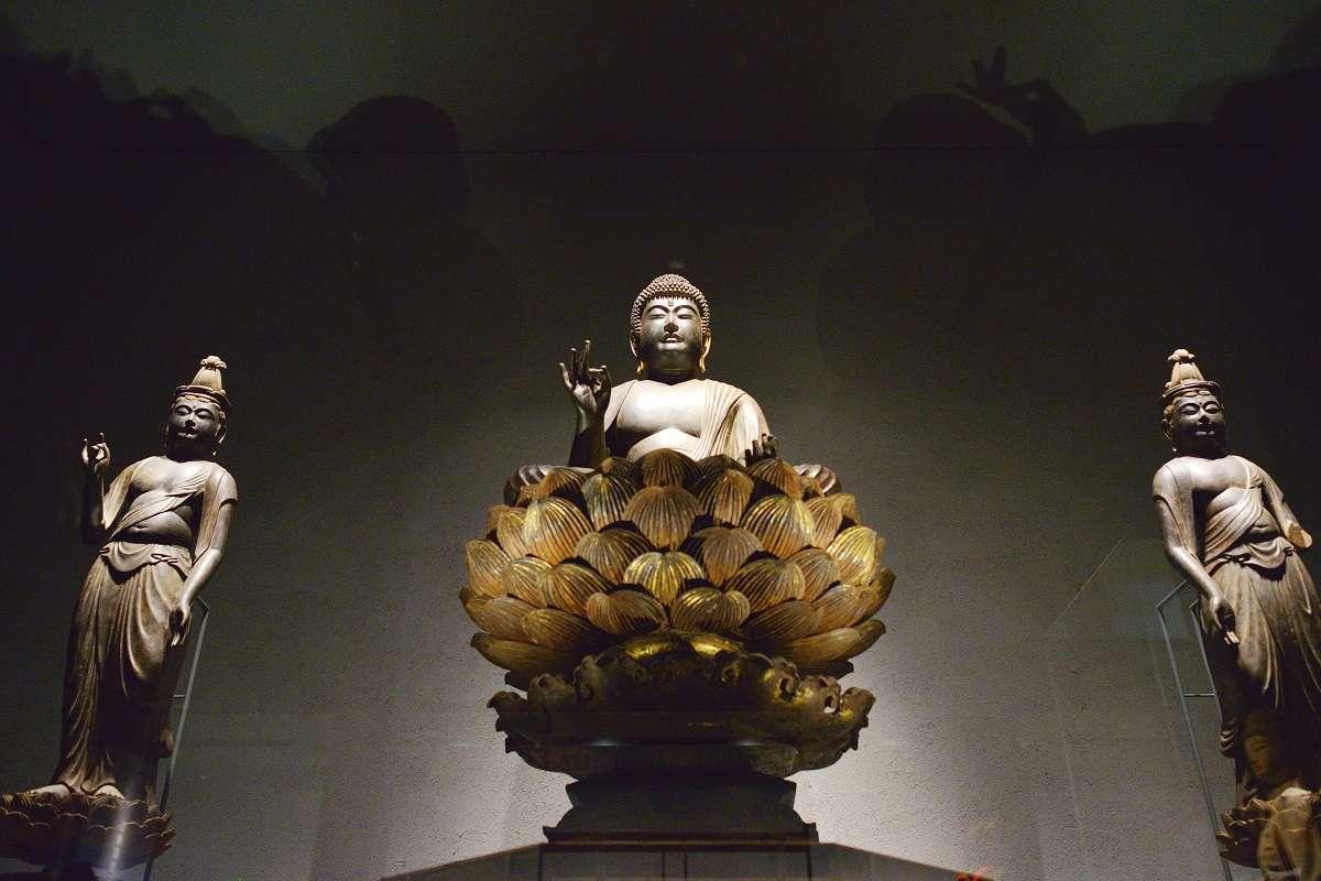 函南、かんなみ仏の里美術館、阿弥陀如来及両脇侍像