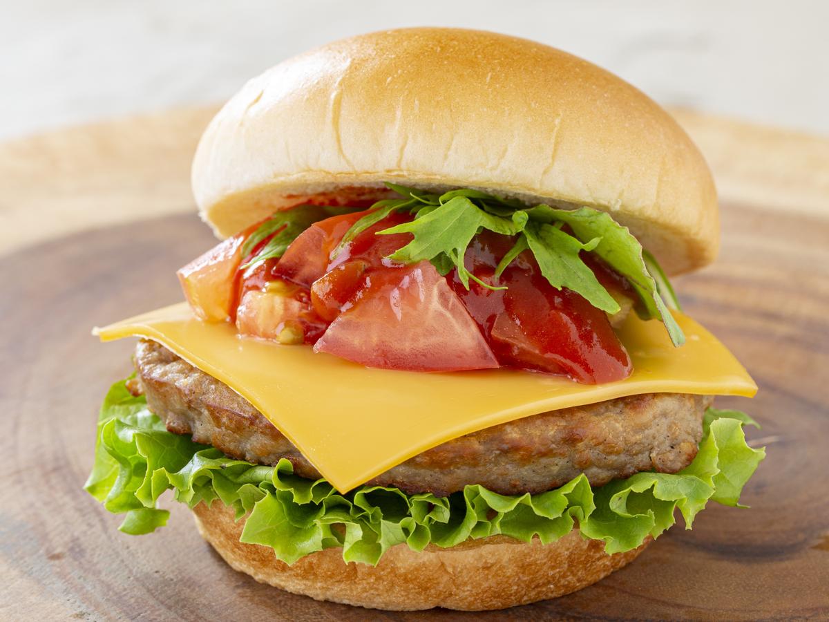 チーズバーガーの写真