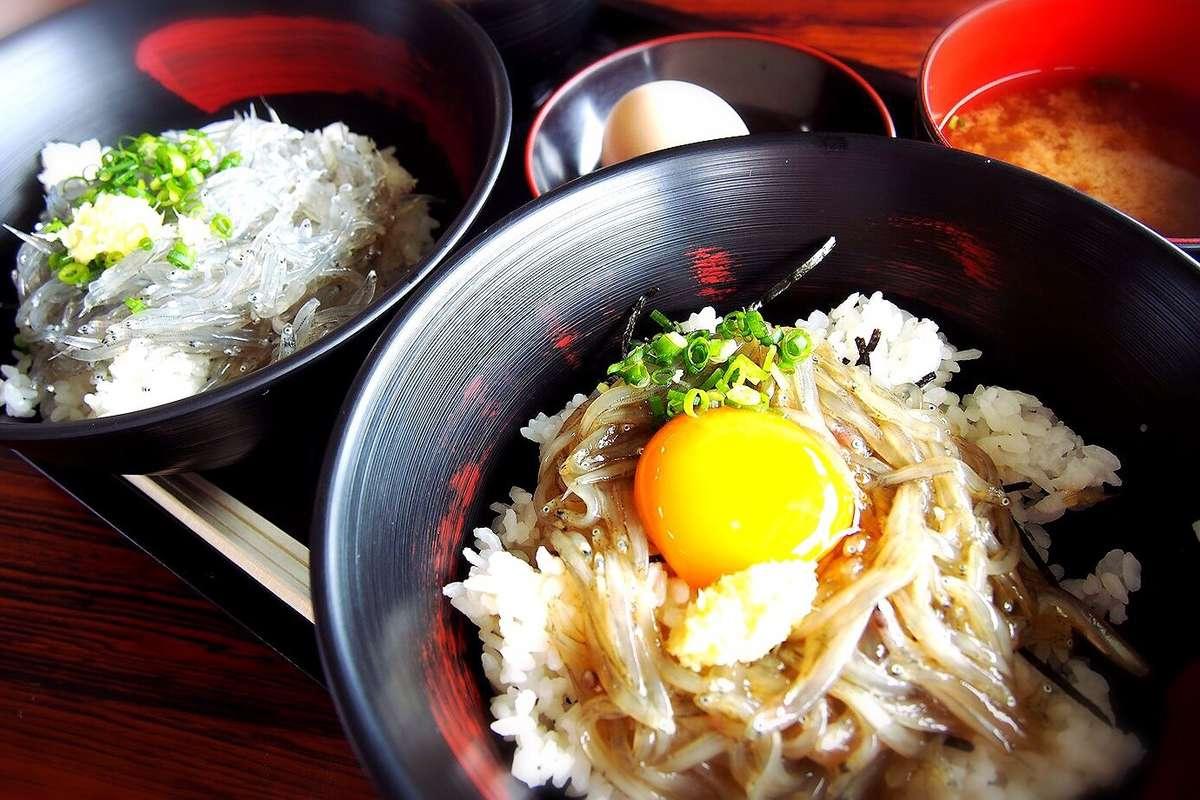 田子の浦港 漁協食堂、富士、生しらす