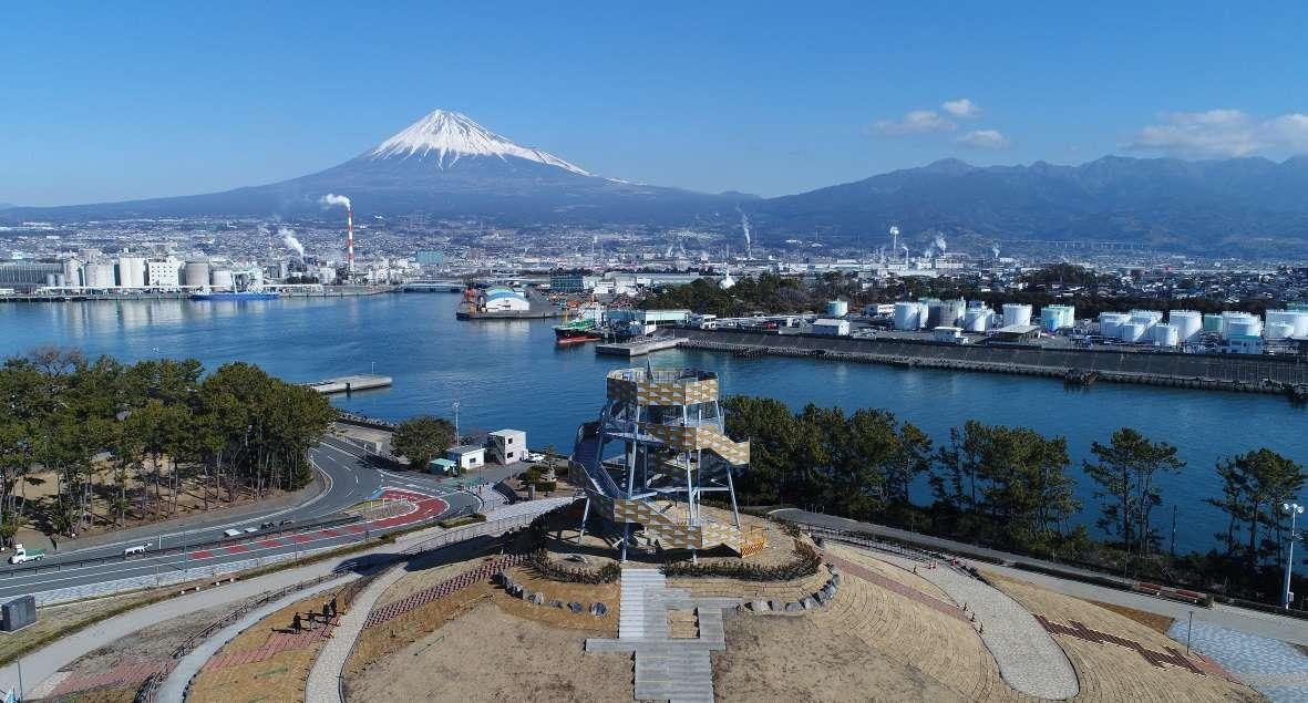 ふじのくに田子の浦みなと公園、富士山