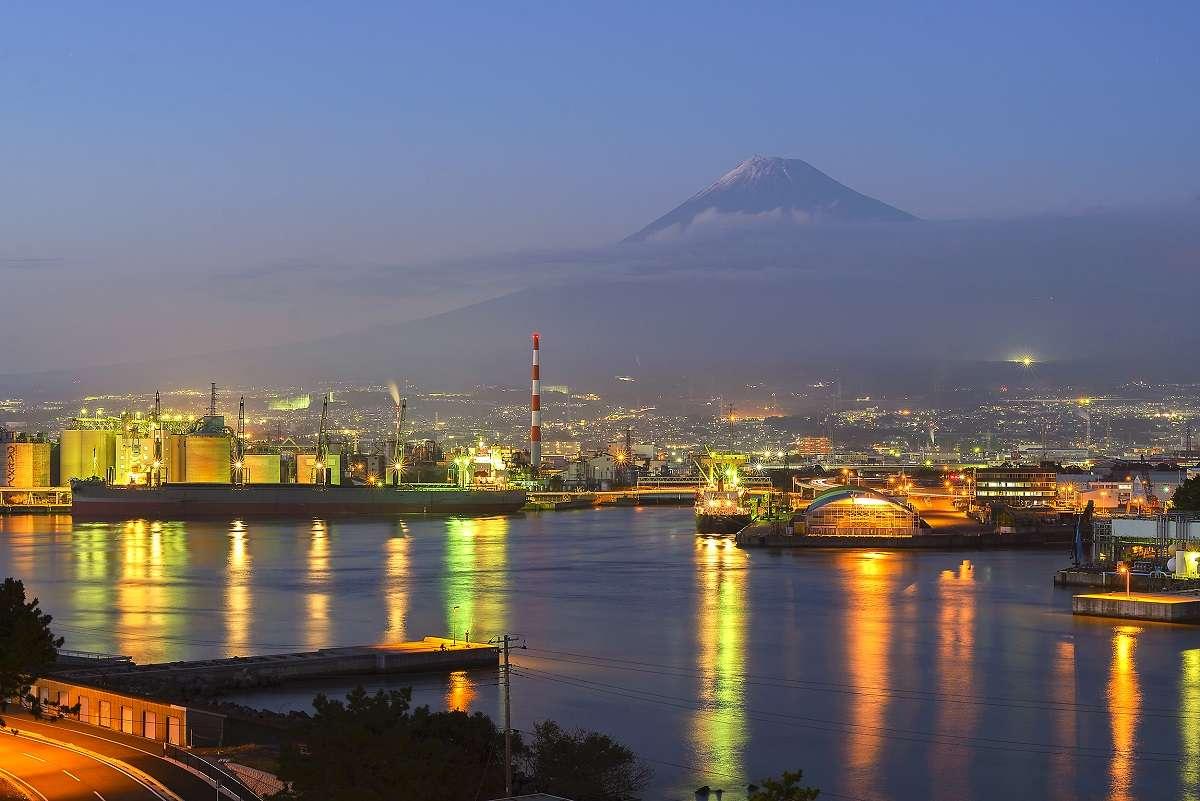 ふじのくに田子の浦みなと公園、夜景