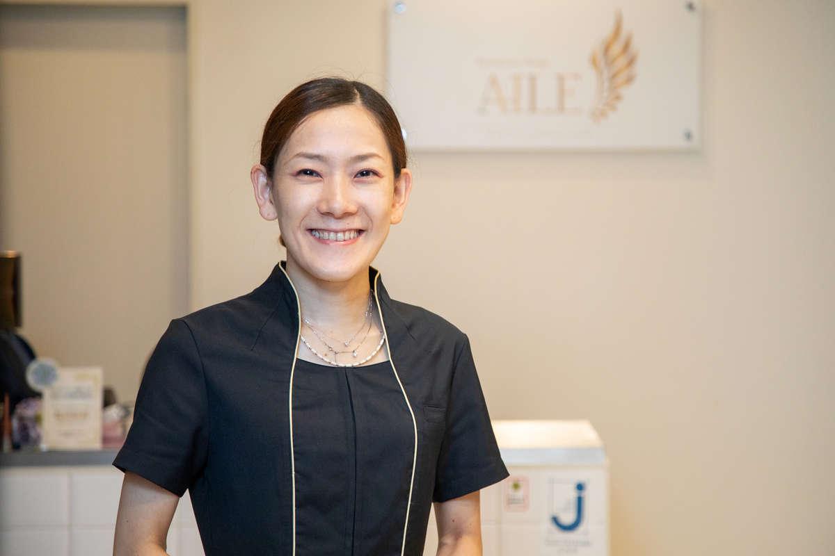 静岡のエステサロン「AILE(エール)」の店長・杉村さんの画像
