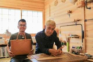 春野町の山奥で作られる「竹カバン」