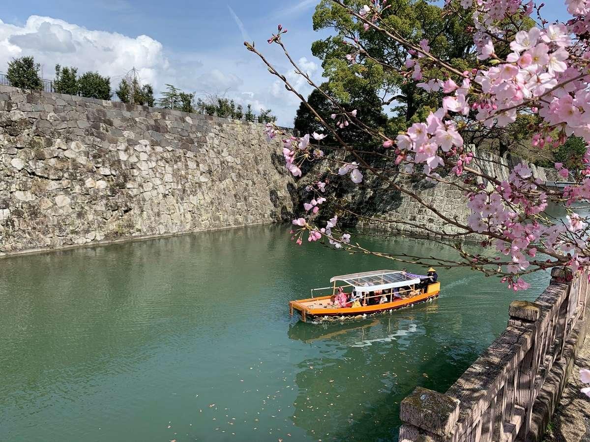 駿府城公園のお堀をめぐる「葵舟」が運航開始!