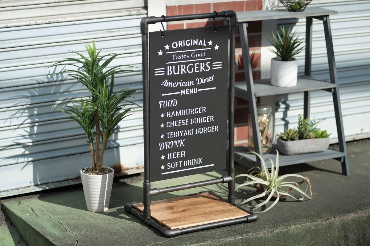 軒先がオシャレに! 黒板サインボードの作り方。初心者でもかんたんDIY