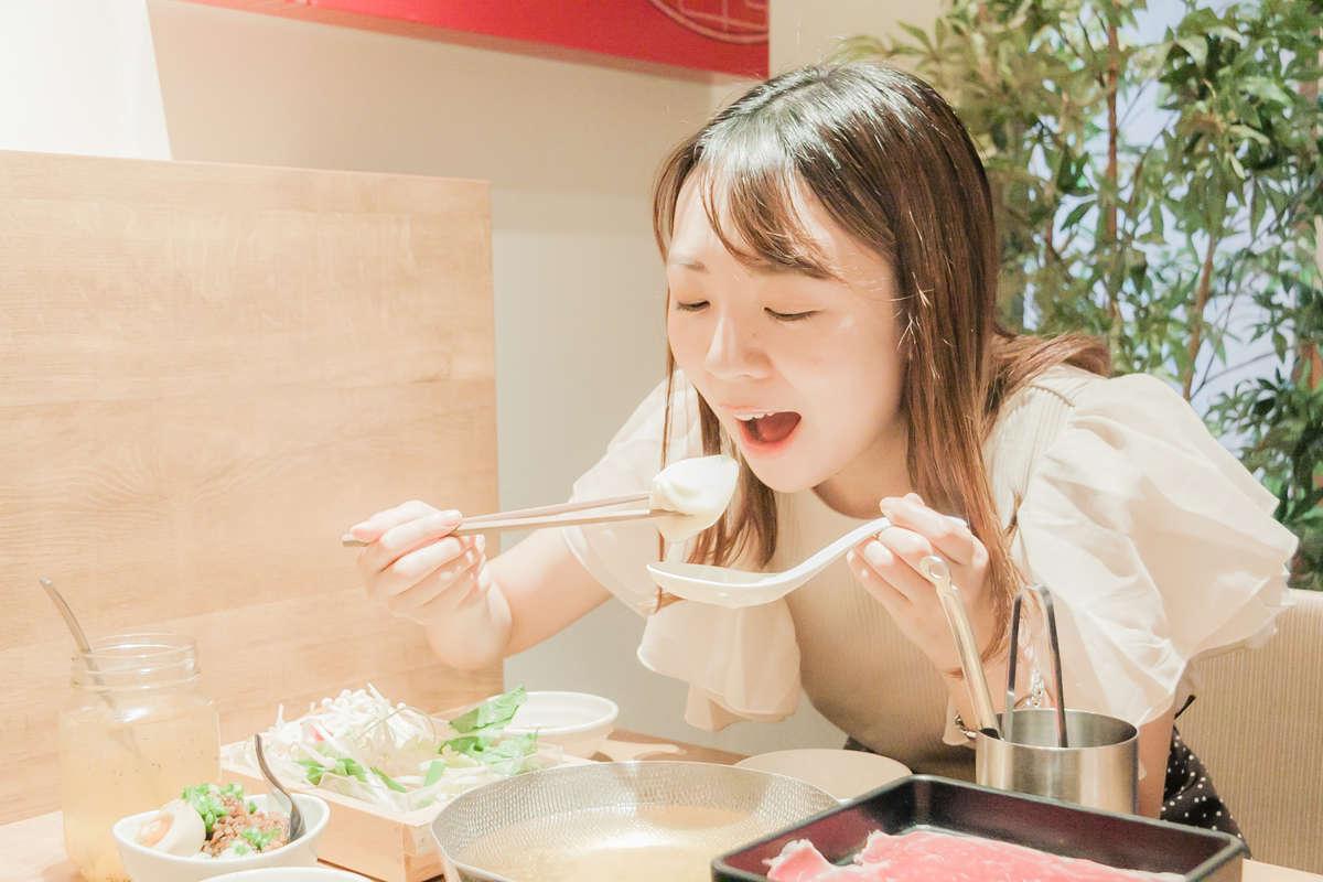 静岡市で台湾鍋を食す『一人鍋しゃぶしゃぶ すうぷ静岡パルコ店』womo編集部のランチ記録
