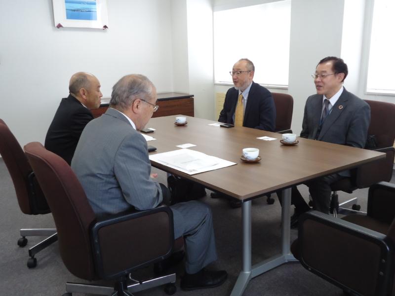 JICA北海道センター所長、本学を表敬訪問