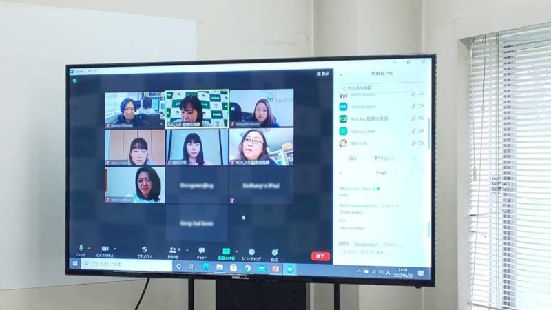 2020年度後学期「留学生とチューターのオンライン顔合わせ」