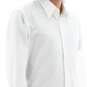 国産のなめらかコットン形態安定加工ホワイトロイヤルオックスフォードシャツ