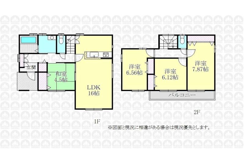 【間取】建物プラン例 建物価格1595万円、建物面積95.83m2