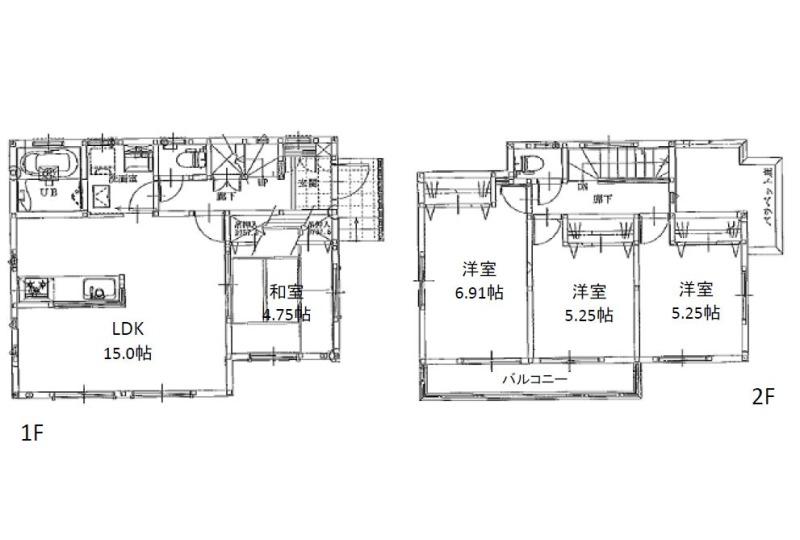 【間取】3号地参考間取り図 建物価格1312.2万円、建物面積89.23m2