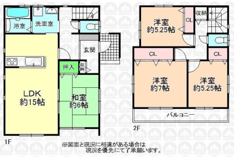 【間取】建物プラン例 建物価格1595万円、建物面積95.84m2