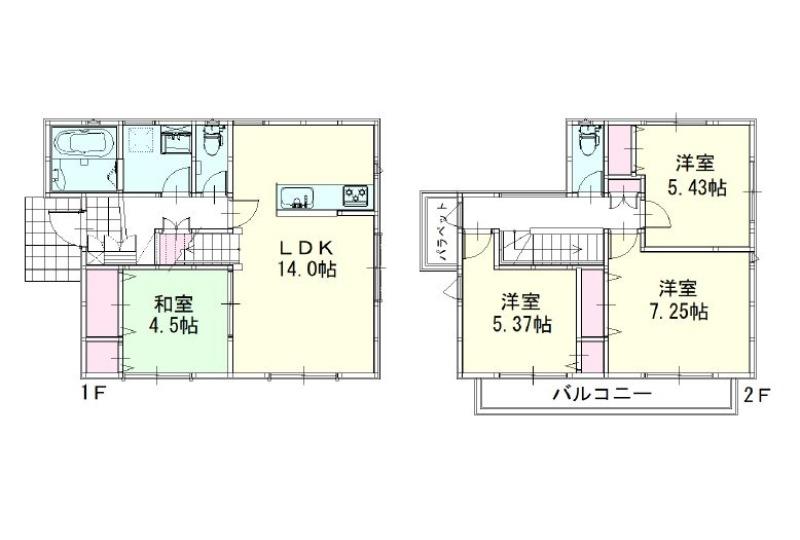 【間取】3号地参考間取り 建物価格:1,485万円、建物面積89.23m2(27坪)
