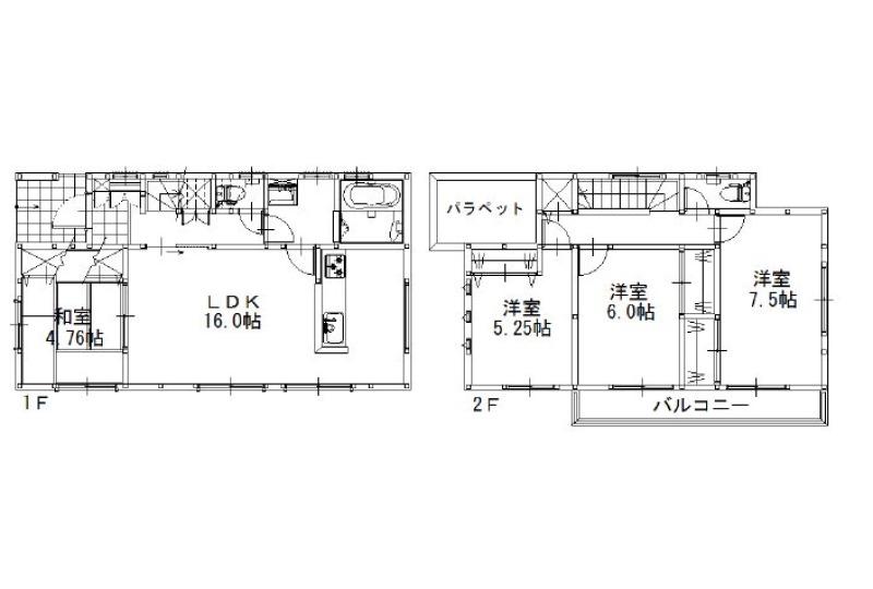 【間取】建物参考価格:1,435.5万円