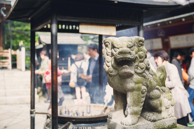 鎌倉旅行でt_picturesが撮影した狛犬の写真