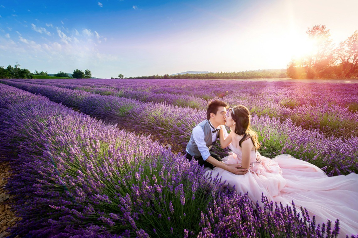 In the fields of Hokkaido — Photo by Queen Wedding Photography