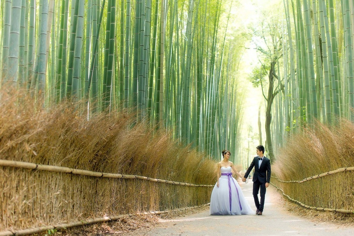 The Arashiyama Bamboo grove is popular for locals and tourists alike! — Photo by 2 of us photography