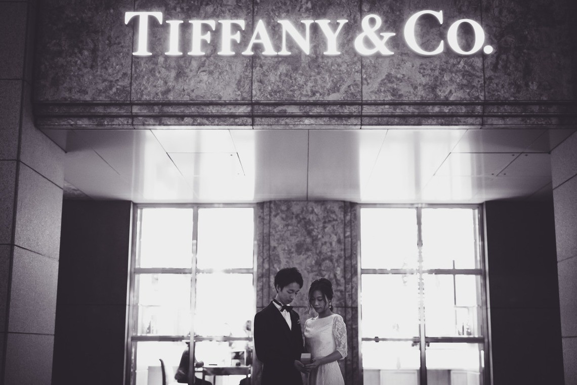 In front of Tiffany & Co. Photo by Ayako Photography