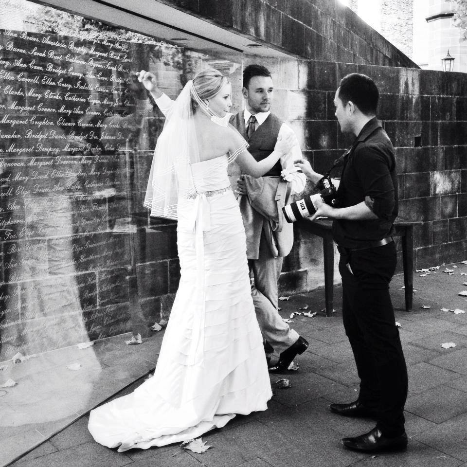 Couple in Sydney with their photographer — Photo by Sydney Creative Photography