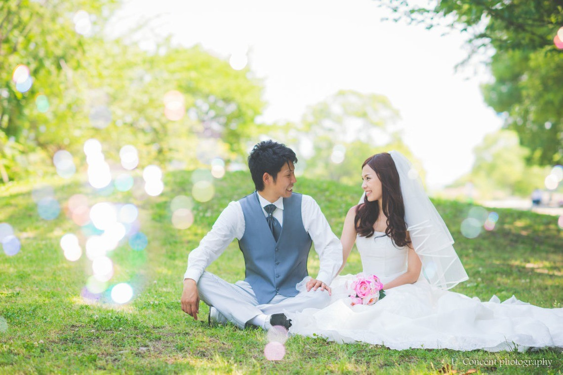 Wedding picnic in the park — Photo by U-CONCENT