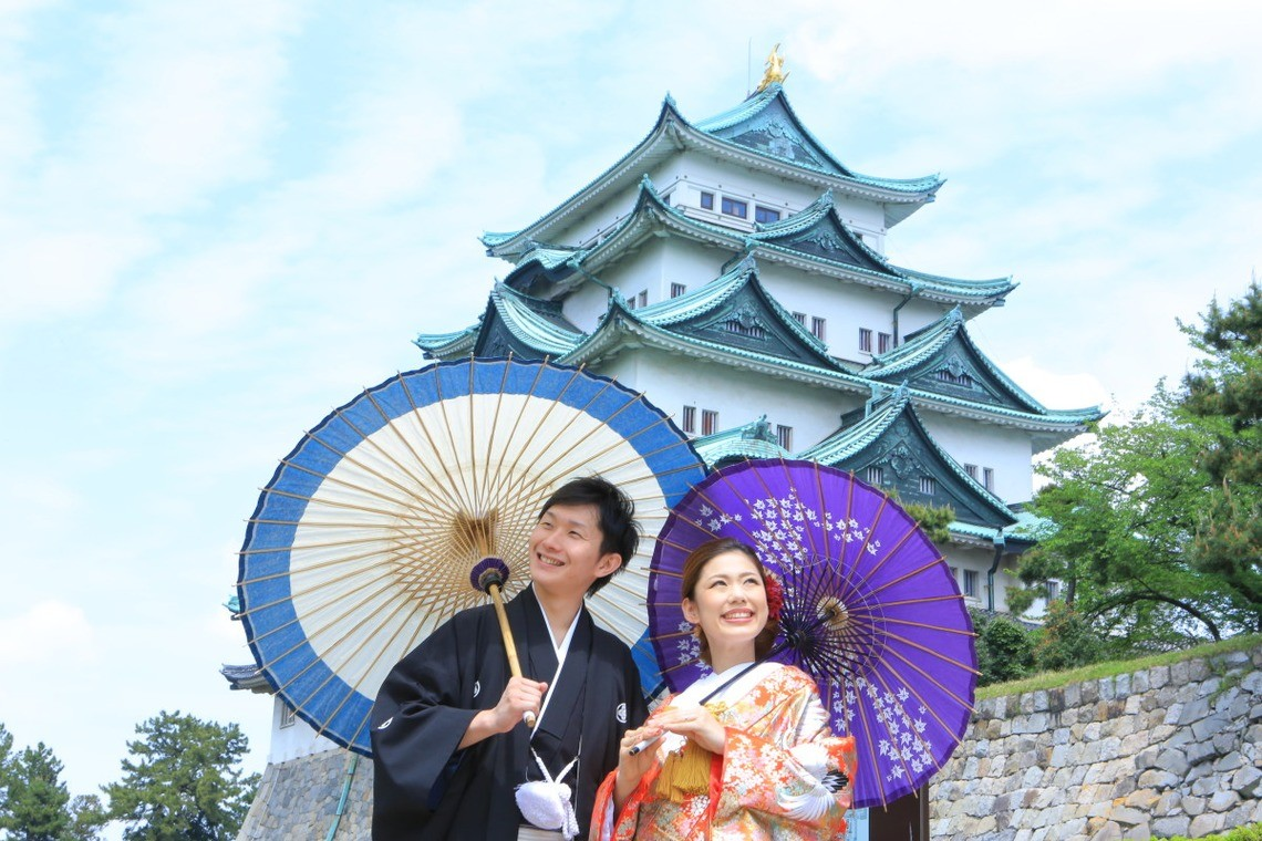 In front of Nagoya Castle — Photo by Studio 8