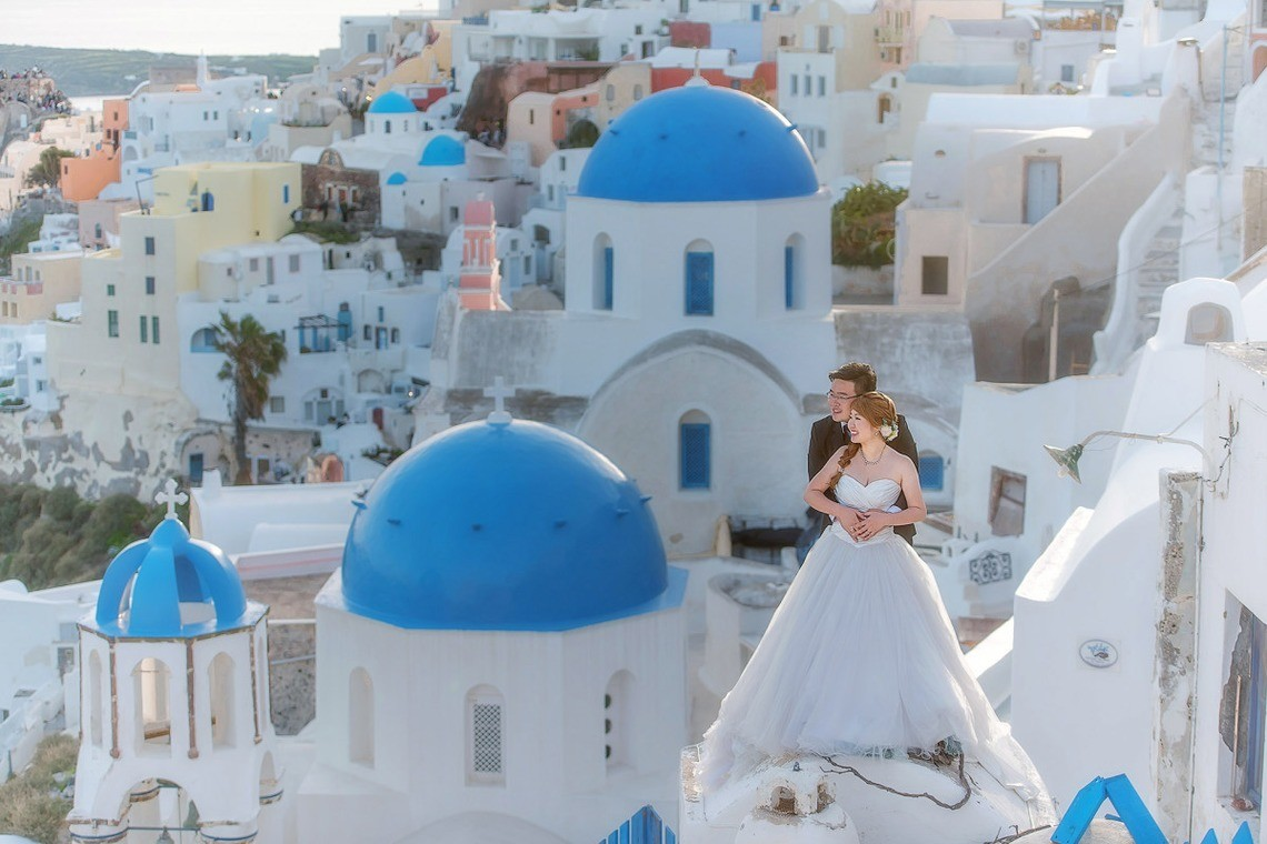 beautiful shot in Santorini— Photo by  2 of us photography