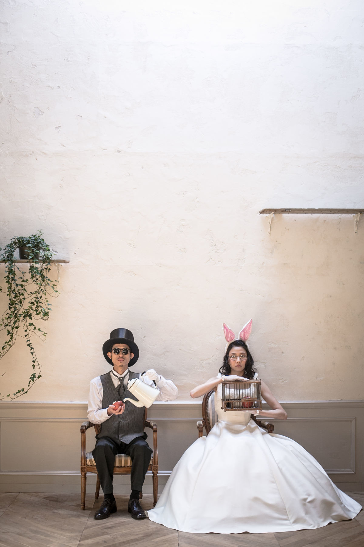 Alice in Wonderland inspired pre wedding photo shoot — Photo by ONESTYLE wedding photo