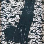 田口善国《漆透かし絵 犬》 1985年 東京国立近代美術館蔵