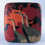 二十代堆朱楊成 《彫漆硯箱 玄鶴》 1944年 東京国立近代美術館蔵