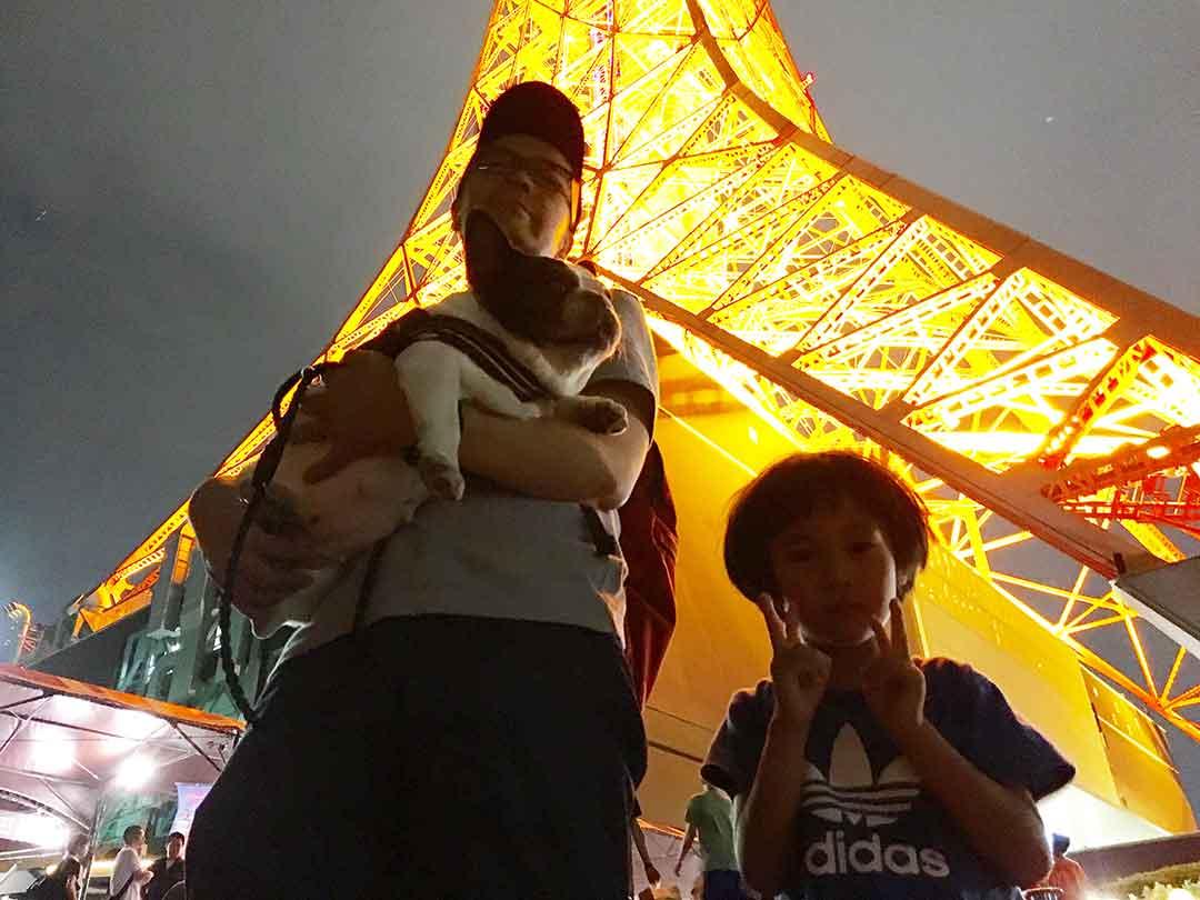 わんこ連れで東京タワー(芝公園)行ってみた!