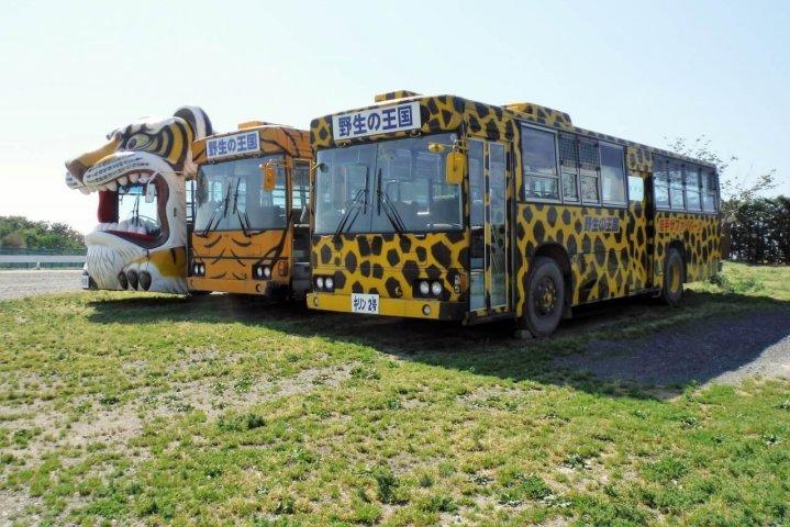 岩手サファリパークのバス