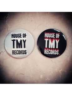 CIRCLE TINBADGE(7.6CM)HOT RECORDS BLOOD / SNOW