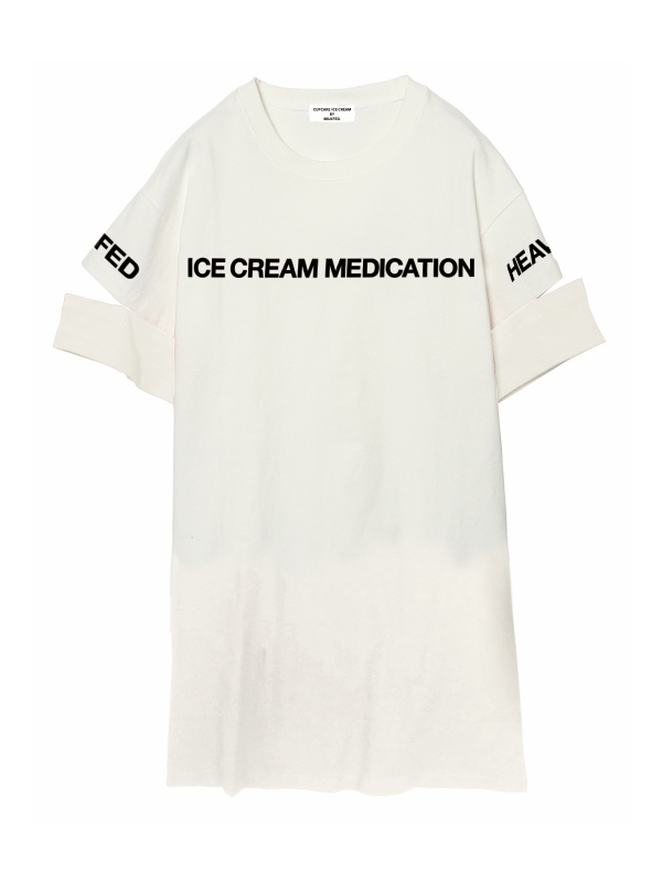 """ICE CREAM MEDICATION"" OPEN SLEEVE DRESS"