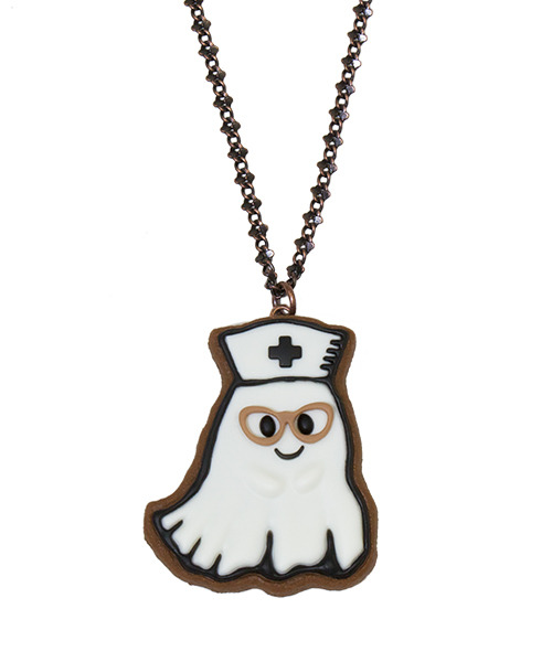 Nurse Ghost Sugar Cookie Necklace♡FEBRUARY