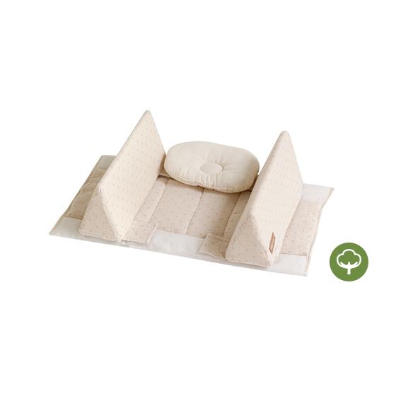 [防護型]貼身防翻枕床中床 有機棉