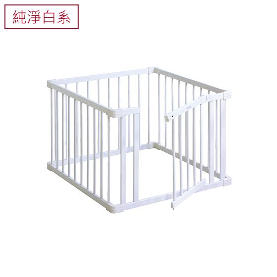 組合式實木帶門圍欄-小│純淨白系