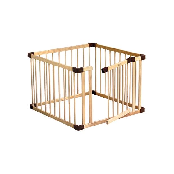 組合式實木帶門圍欄|小
