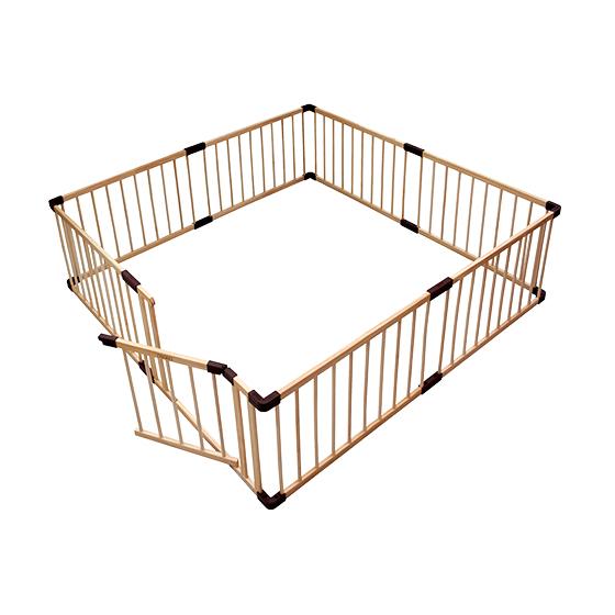 組合式實木帶門圍欄|大