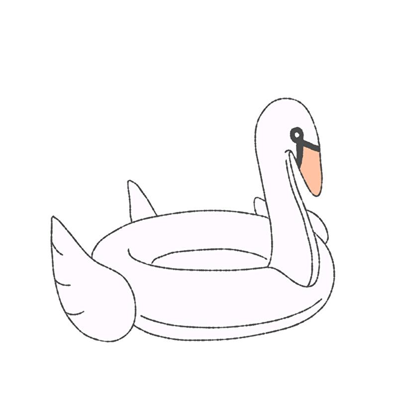 スワンの浮き輪